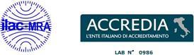 Certificato di Accreditamento ACCREDIA - UNI CEI EN ISO/IEC 17025:2005